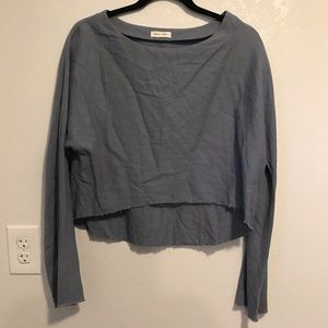 Anthro Silence + Noise long sleeve crop top